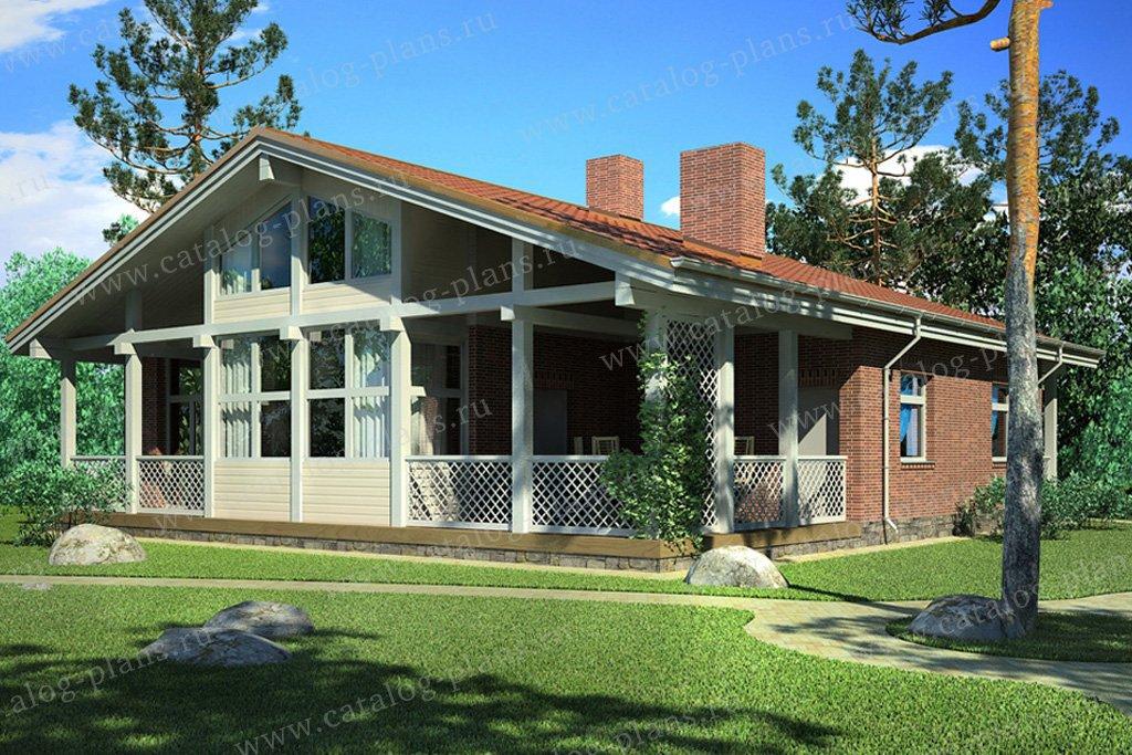 Проект жилой дом #70-21 материал - каркас, стиль скандинавский