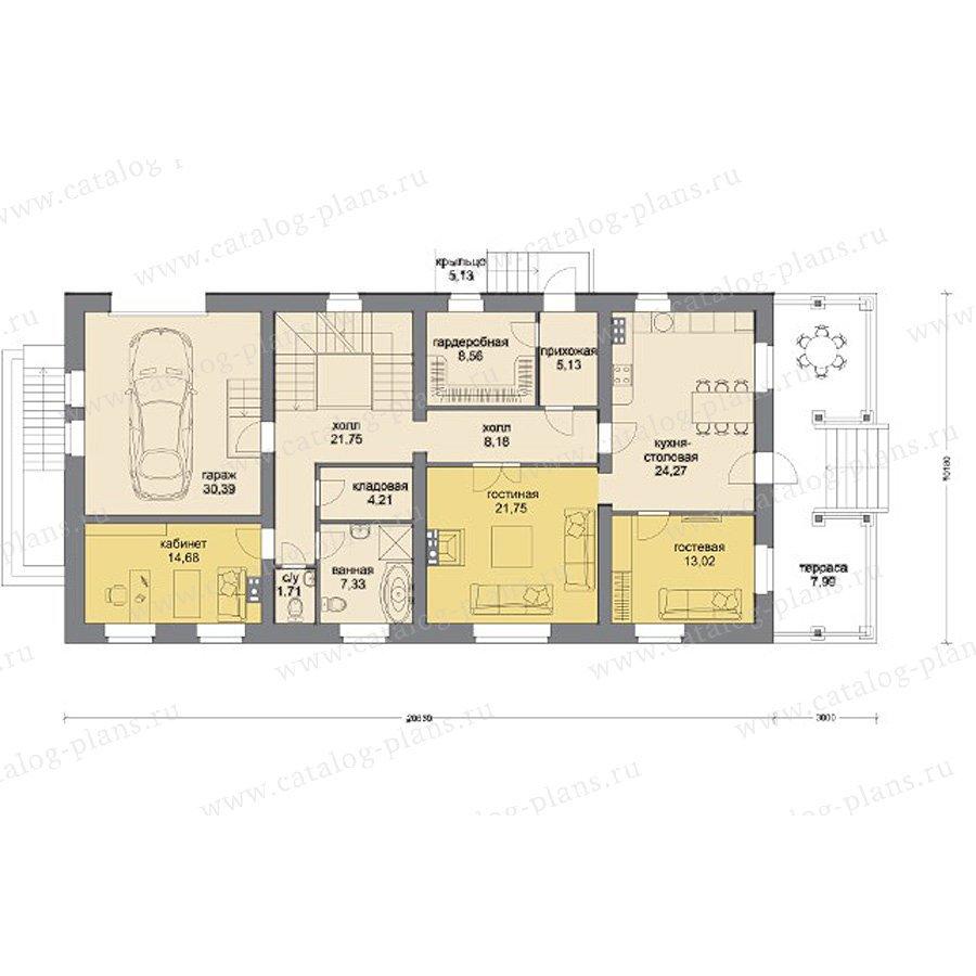 План 2-этажа проекта 80-13