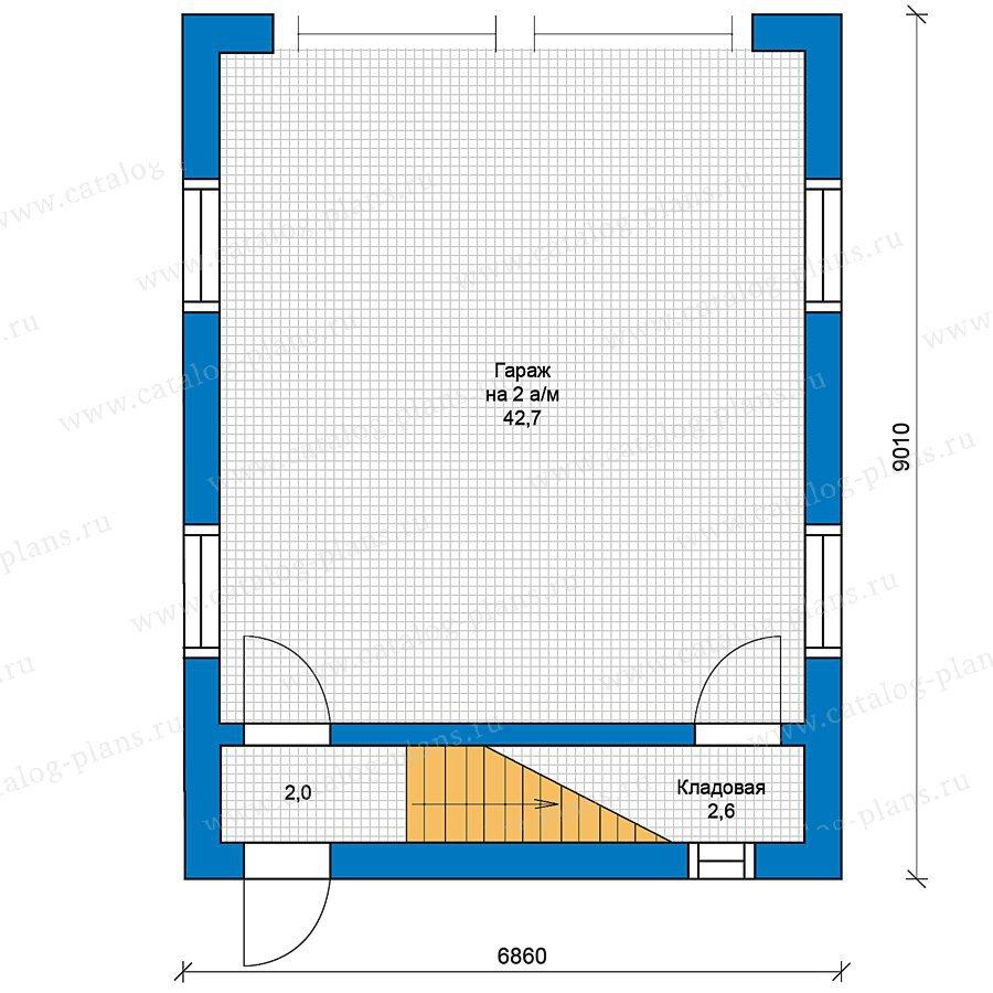 План 1-этажа проекта 70-22