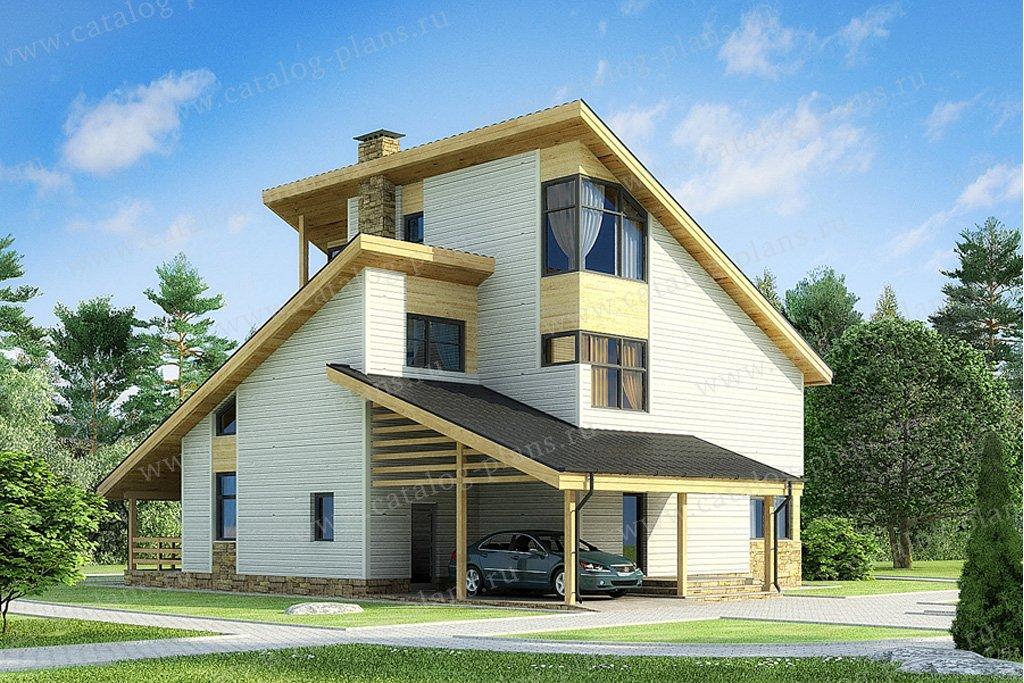 Проект жилой дом #70-24 материал - каркас, стиль современный