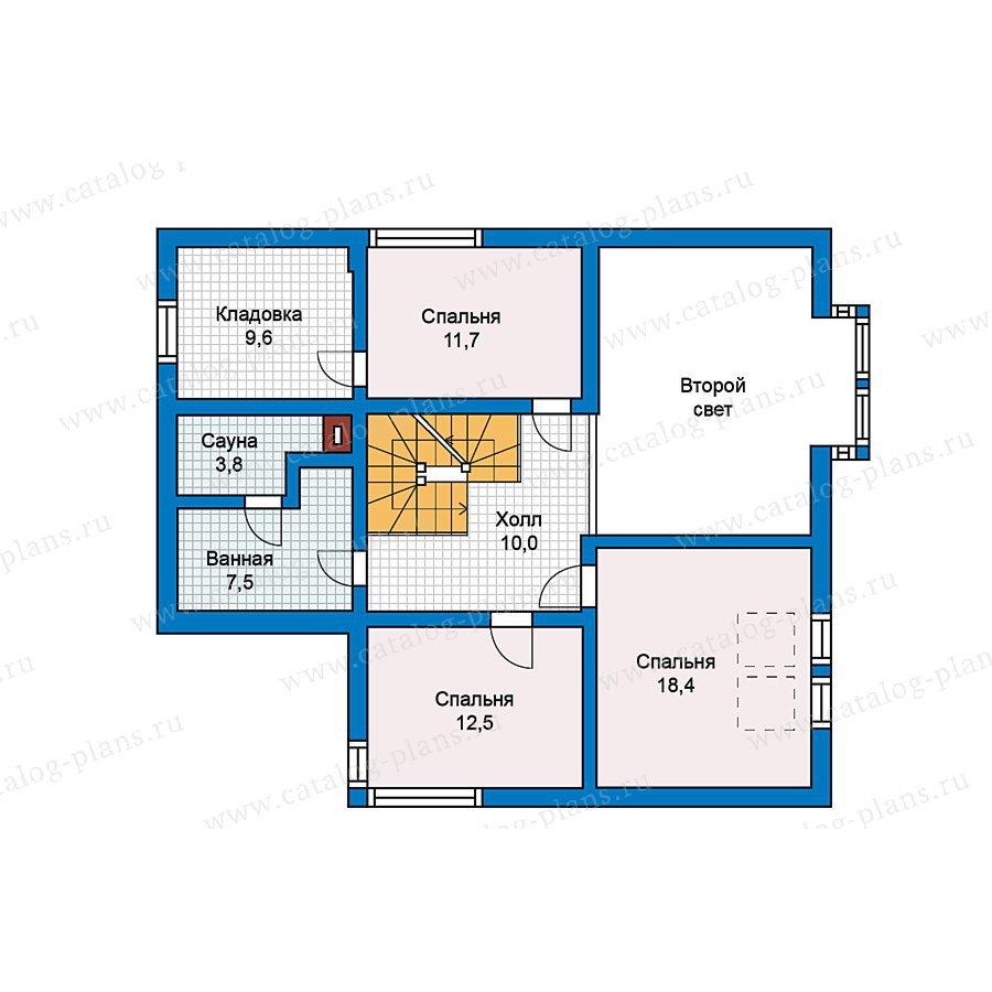 План 2-этажа проекта 70-24