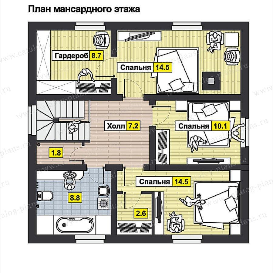 План 2-этажа проекта 70-53