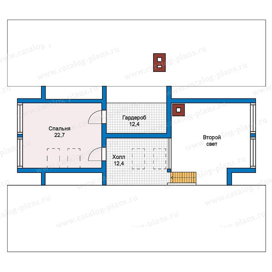 План 2-этажа проекта 70-21