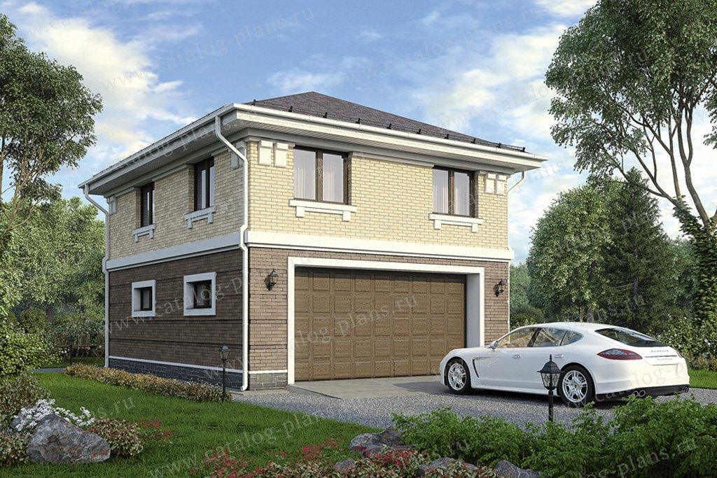 Проект жилой дом #70-22 материал - газобетон, стиль классический