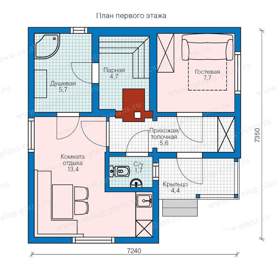 План 1-этажа проекта 90-38