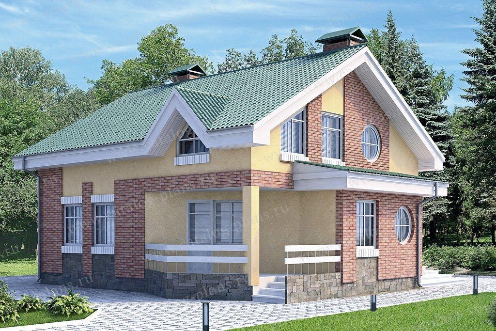 Проект жилой дом #60-01 материал - газобетон, стиль современный