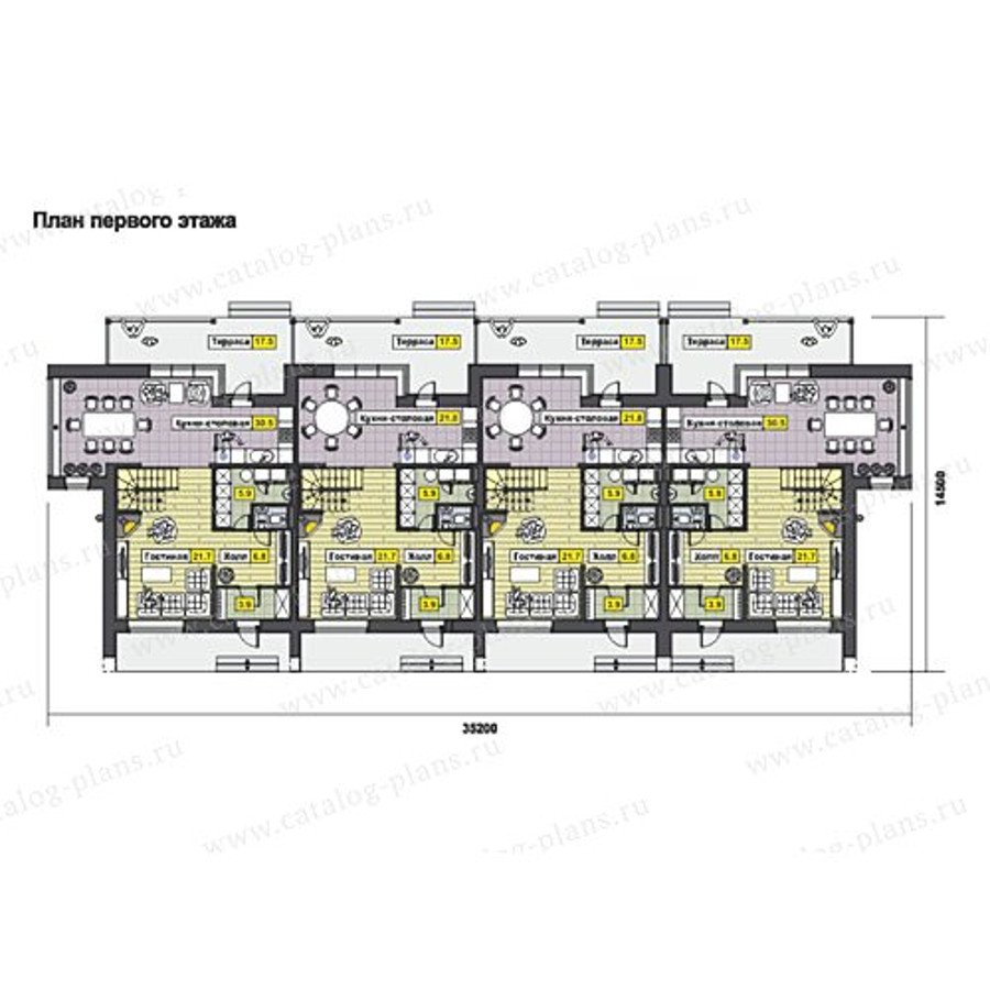 План 1-этажа проекта 70-10