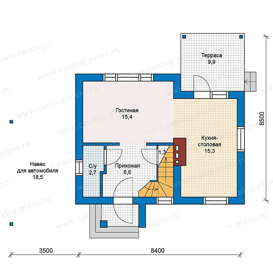 План 1-этажа проекта 59-20