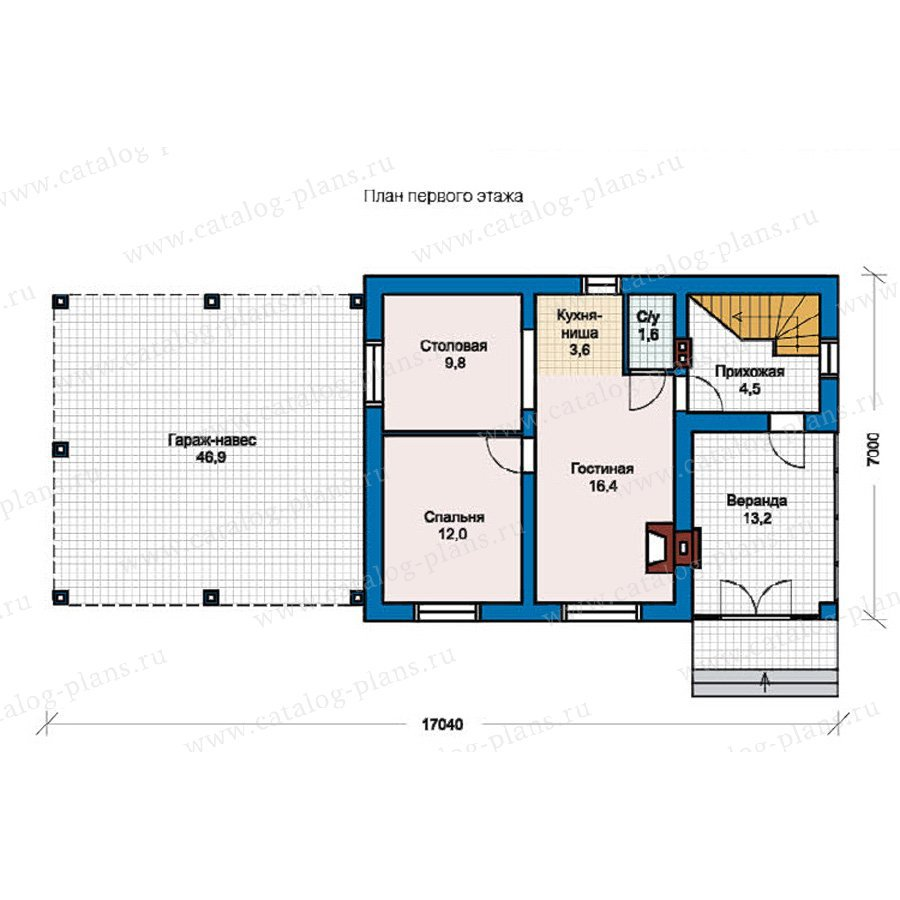 План 1-этажа проекта 59-07