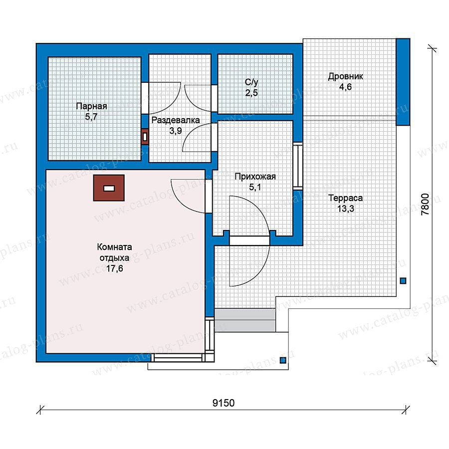 План 1-этажа проекта 59-19
