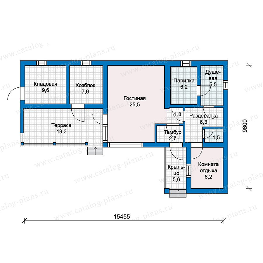 План 1-этажа проекта 59-21