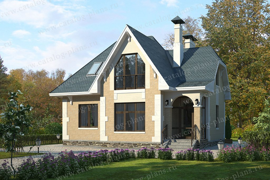 Проект жилой дом #59-05 материал - газобетон, стиль английский