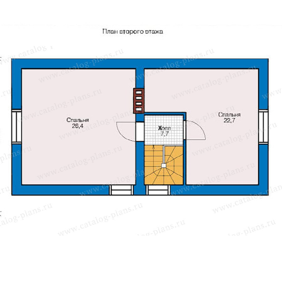 План 2-этажа проекта 59-01