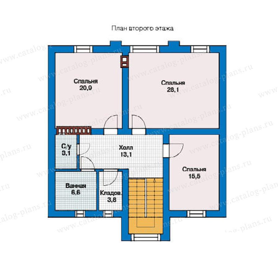 План 2-этажа проекта 59-03