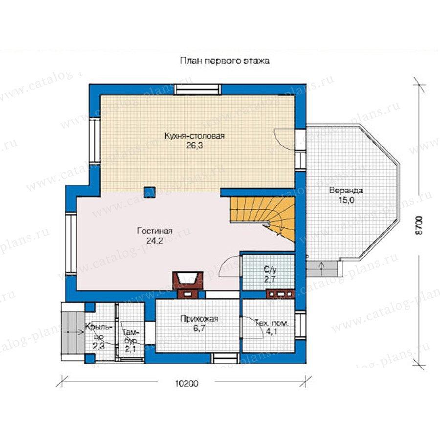 План 1-этажа проекта 59-05