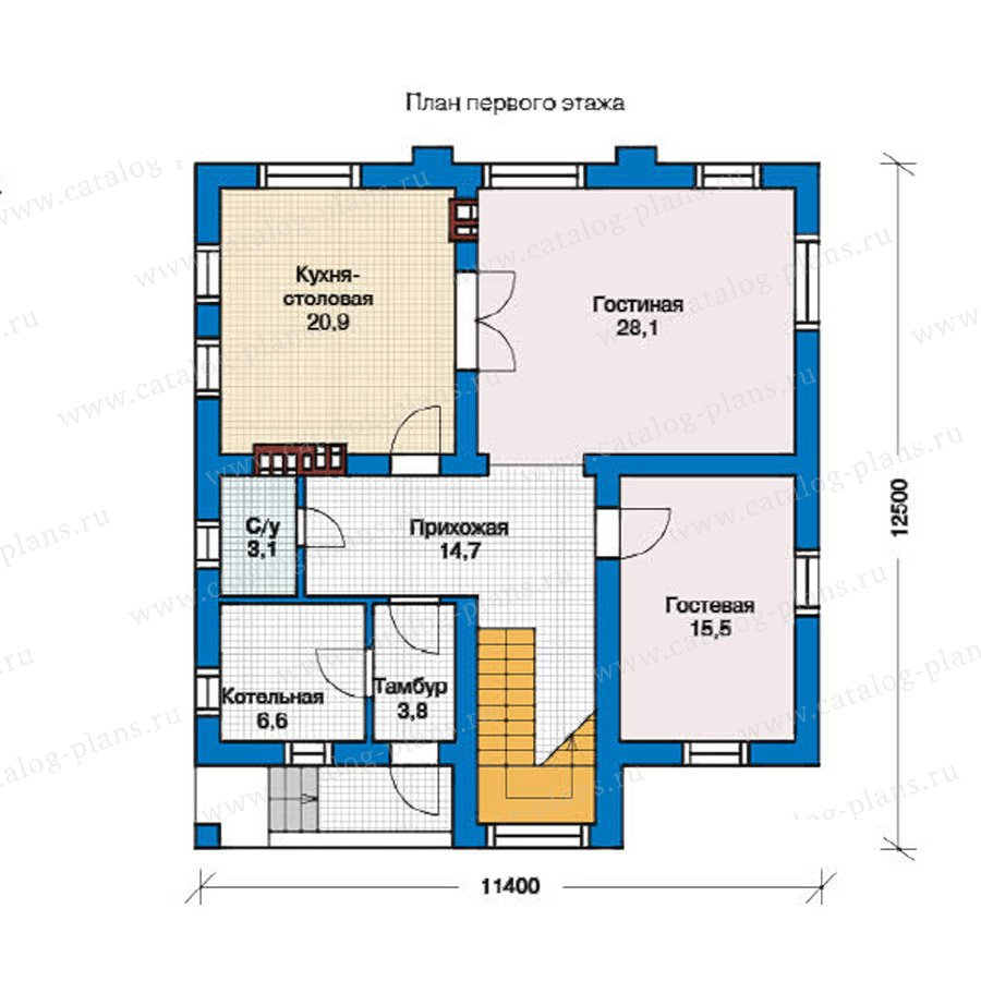 План 1-этажа проекта 59-03