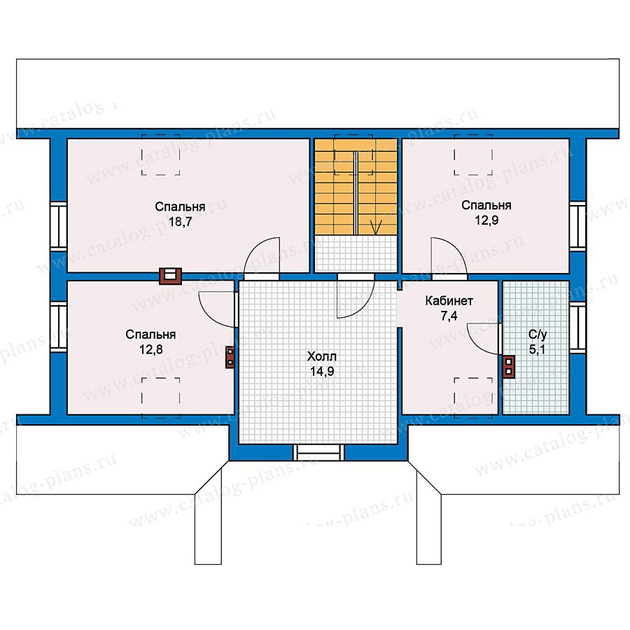 План 2-этажа проекта 59-30