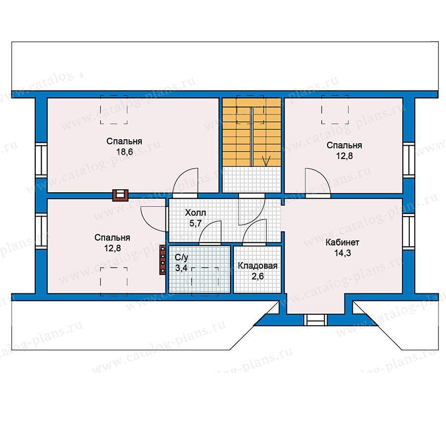 План 2-этажа проекта 59-32