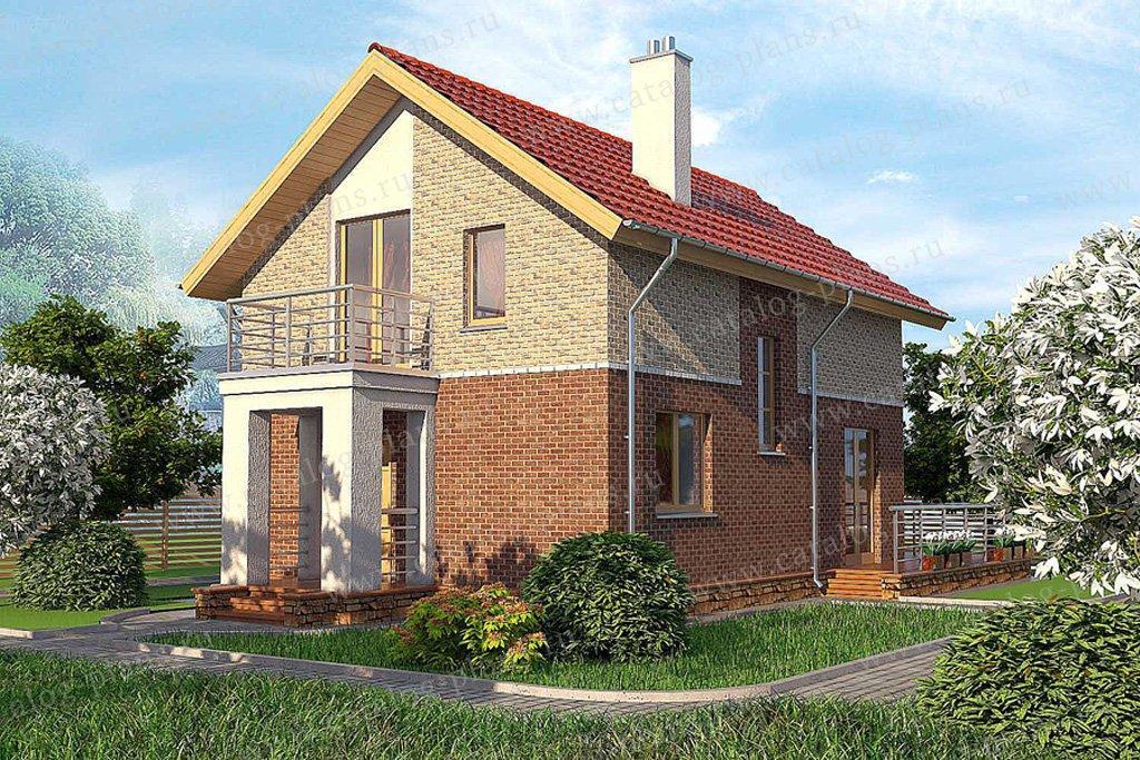 Проект жилой дом #59-37 материал - газобетон, стиль современный