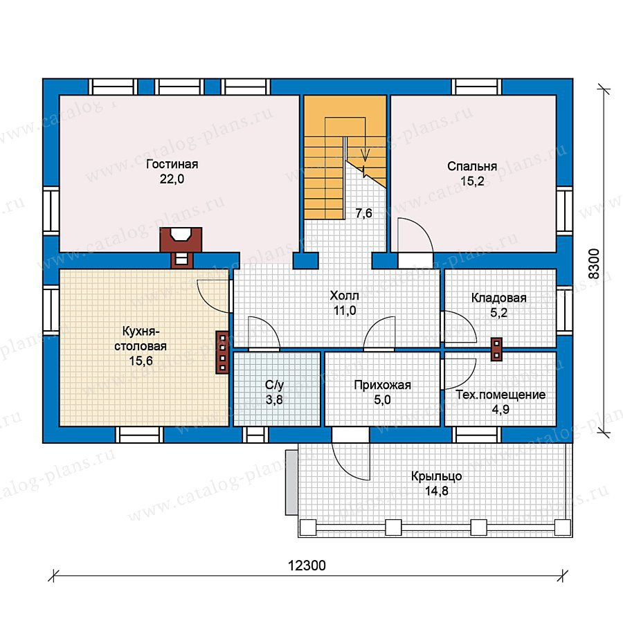 План 1-этажа проекта 59-32