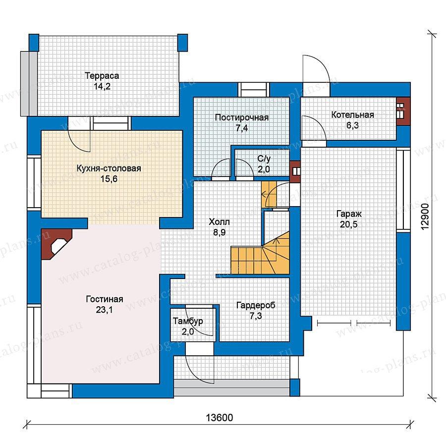 План 1-этажа проекта 59-24