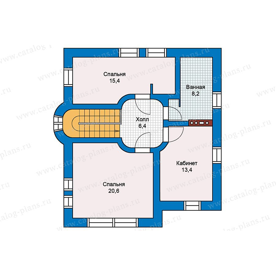 План 2-этажа проекта 59-28