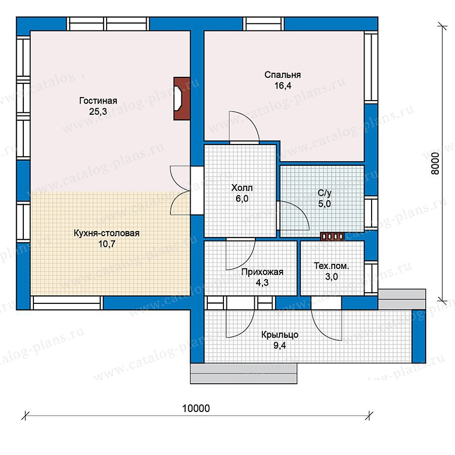 План 1-этажа проекта 59-33