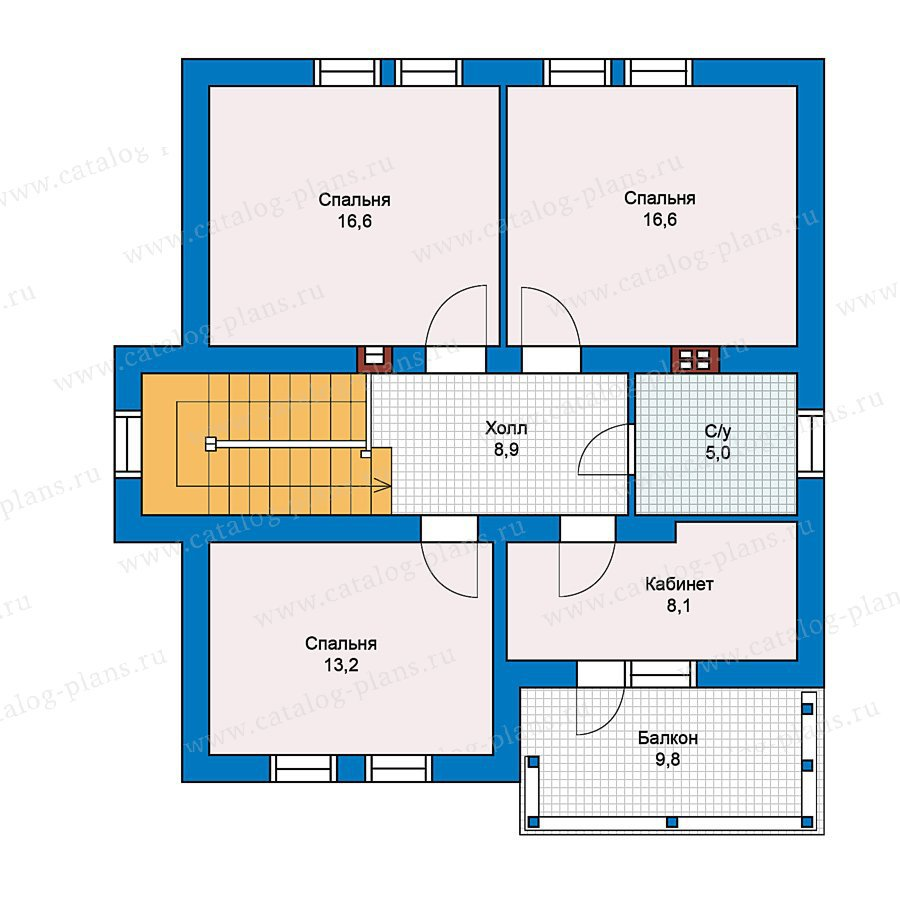 План 2-этажа проекта 59-35