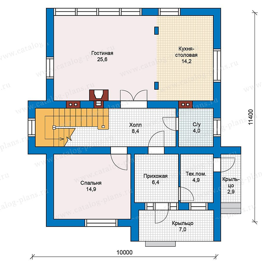 План 1-этажа проекта 59-34