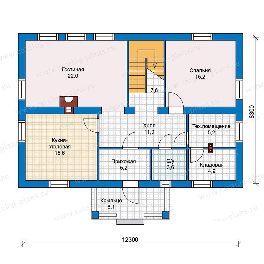 План 1-этажа проекта 59-30