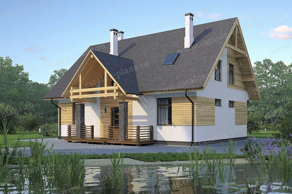 Проект жилой дом #59-31 материал - газобетон, стиль скандинавский