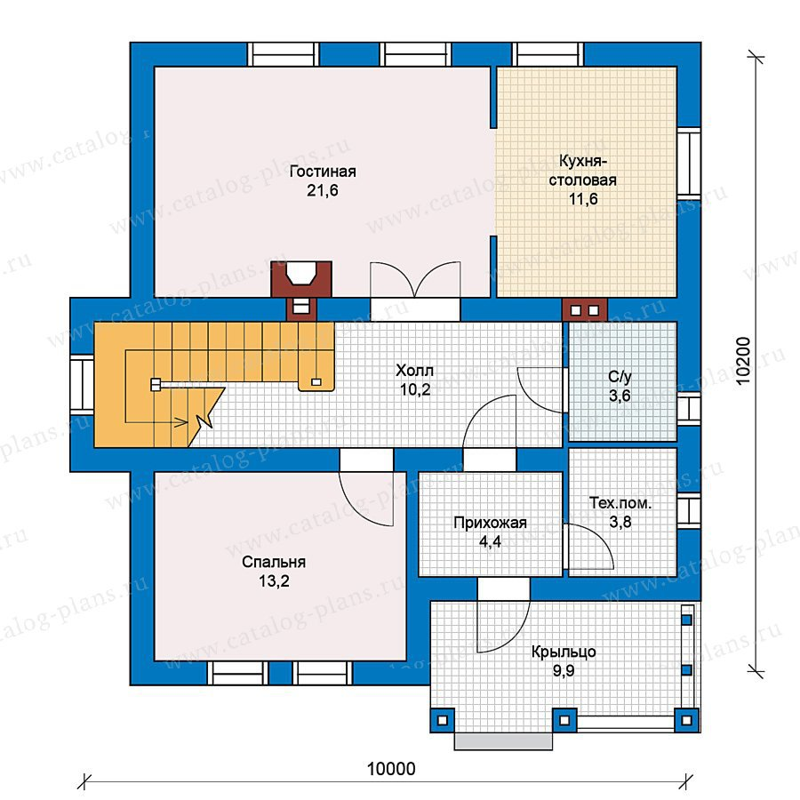 План 1-этажа проекта 59-35