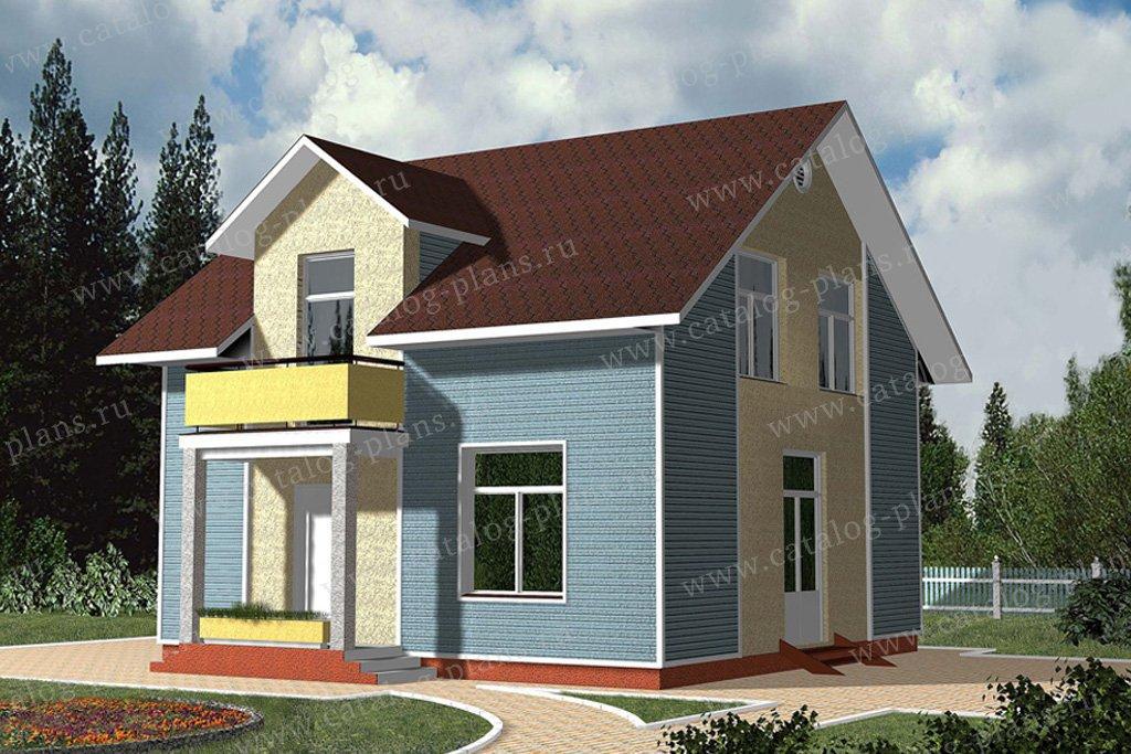 Проект жилой дом #59-51 материал - газобетон, стиль современный