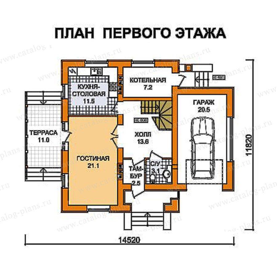 План 1-этажа проекта 59-46