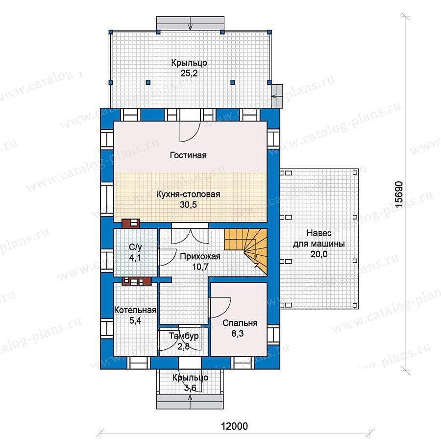 План 1-этажа проекта 59-40