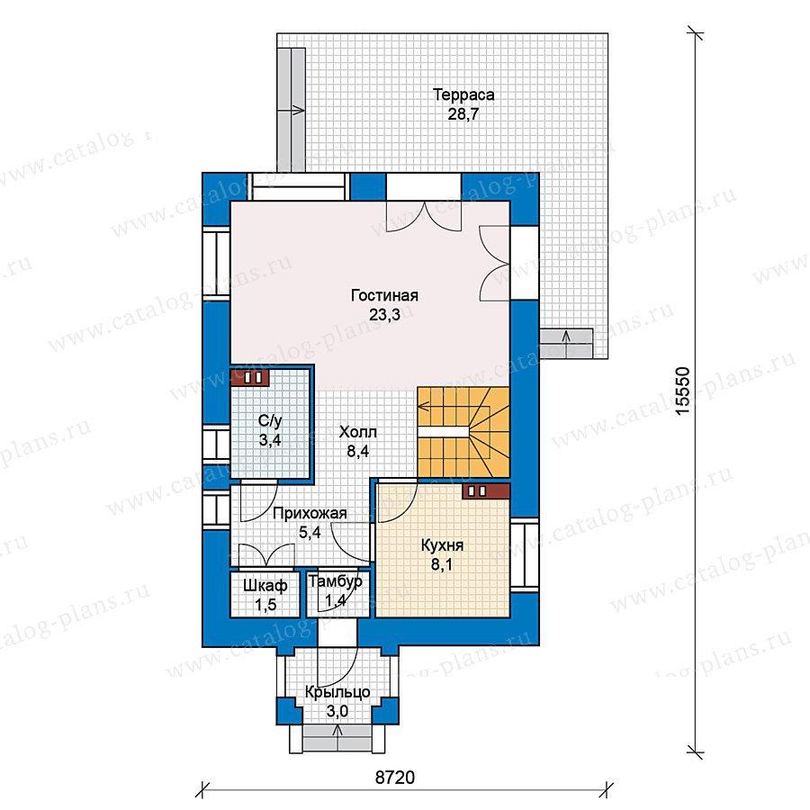 План 1-этажа проекта 59-37
