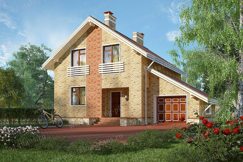 Проект жилой дом #59-47 материал - газобетон, стиль современный