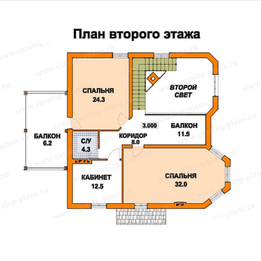 План 2-этажа проекта 59-39