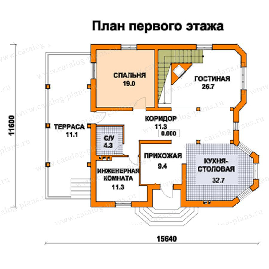 План 1-этажа проекта 59-39