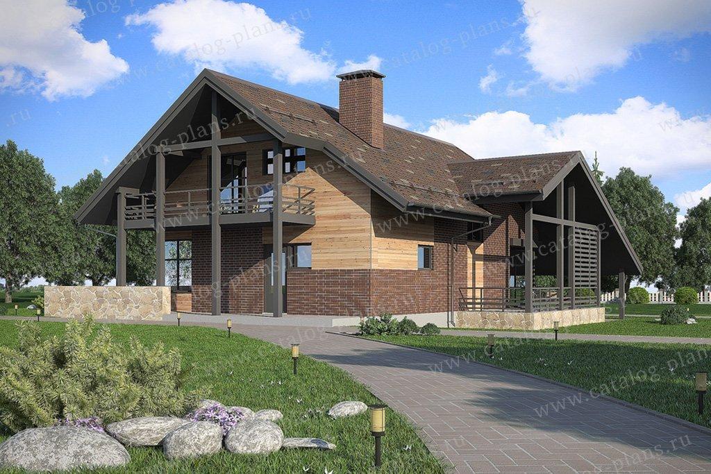 Проект жилой дом #59-71 материал - газобетон, стиль скандинавский