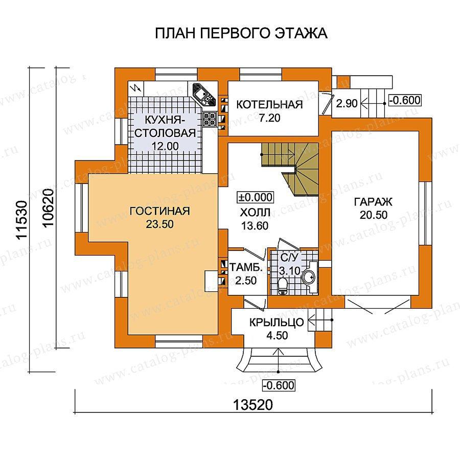 План 1-этажа проекта 59-47
