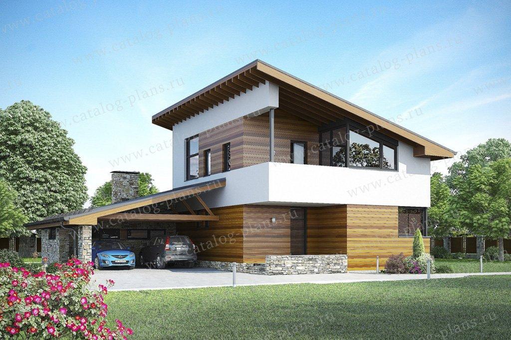 Проект жилой дом #59-67 материал - газобетон, стиль хай-тек