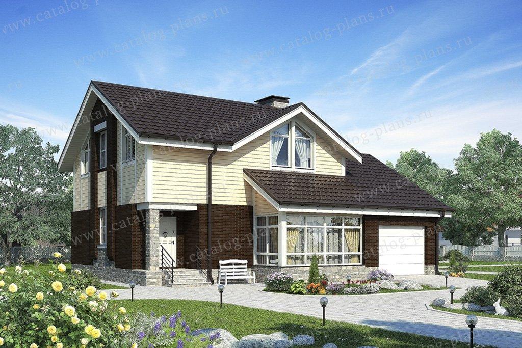 Проект жилой дом #59-65 материал - газобетон, стиль европейский