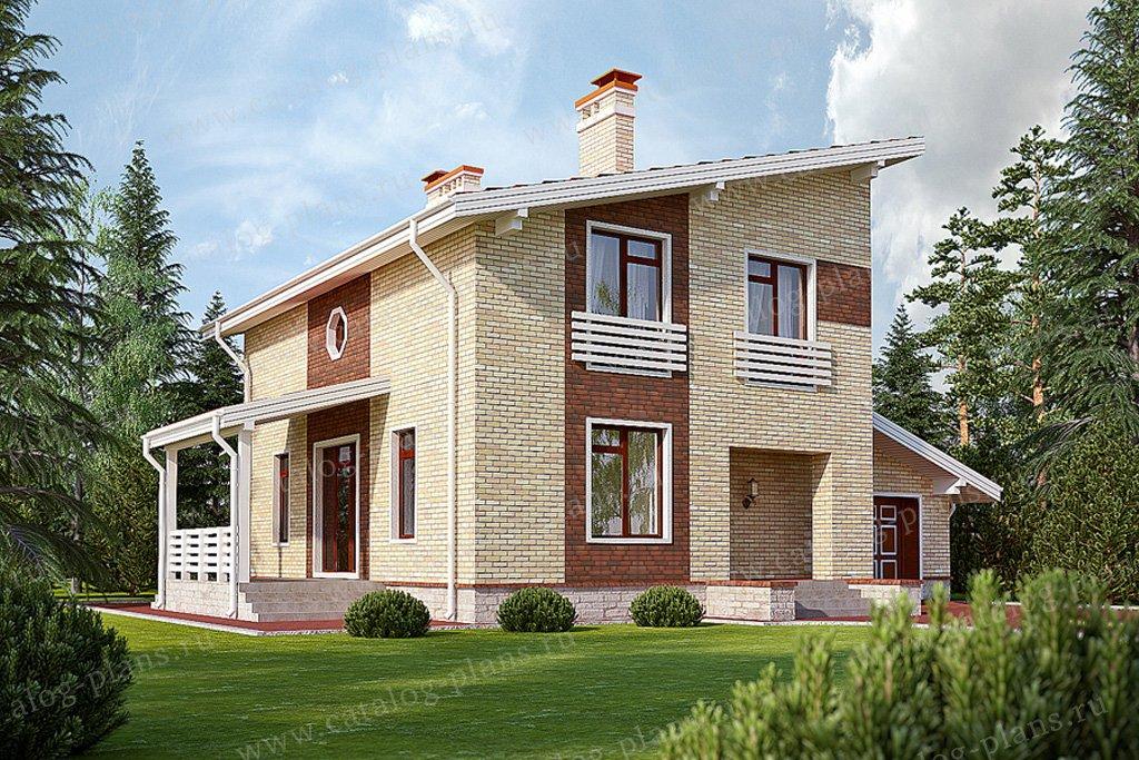 Проект жилой дом #59-46 материал - газобетон, стиль современный