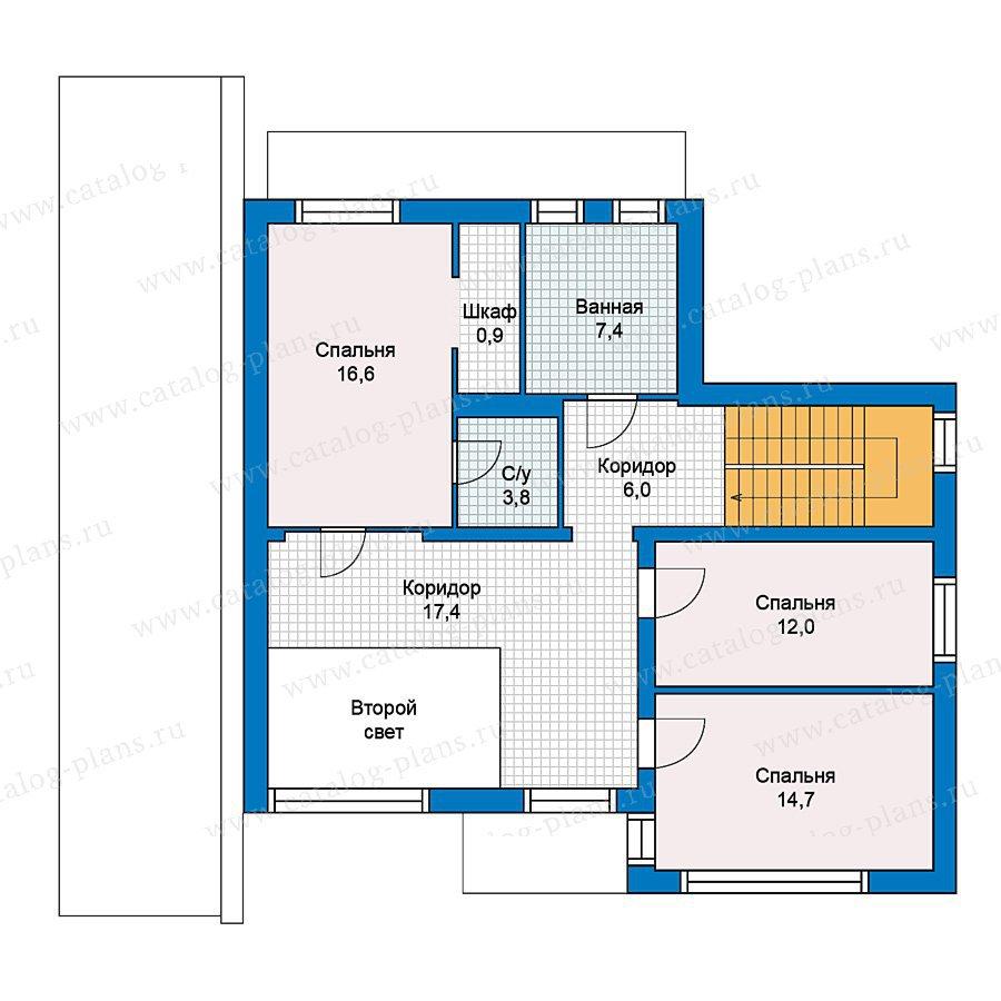 План 2-этажа проекта 59-43