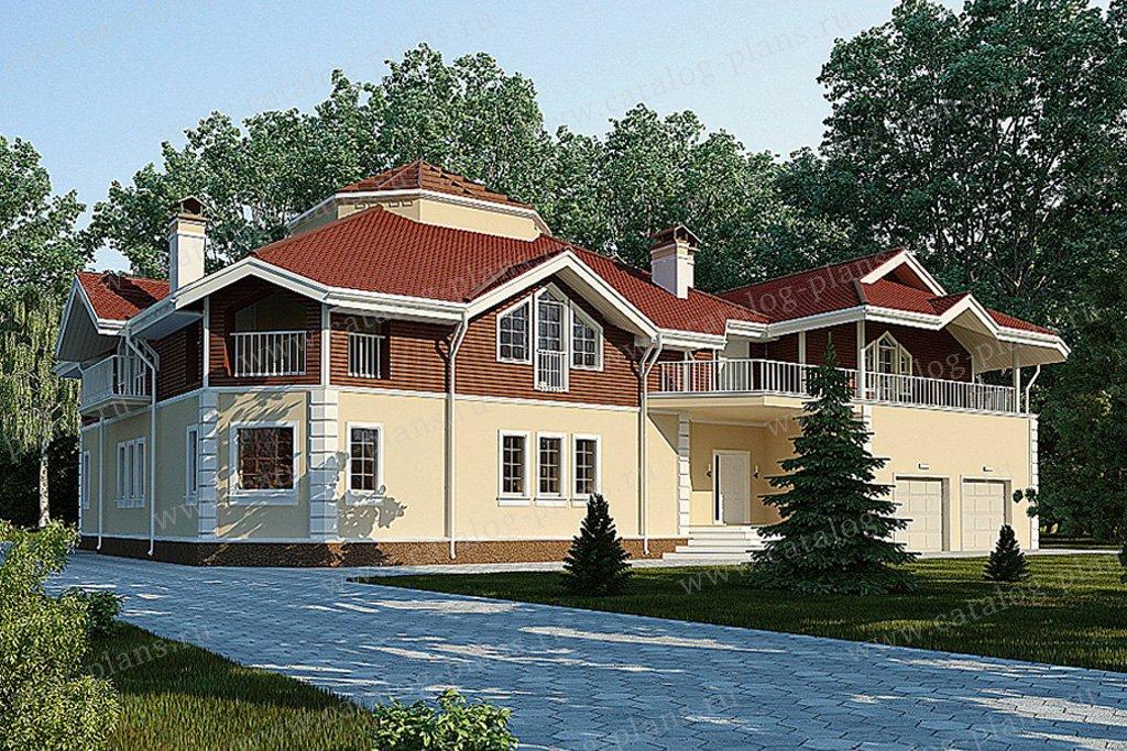 Проект жилой дом #59-59 материал - газобетон, стиль классический