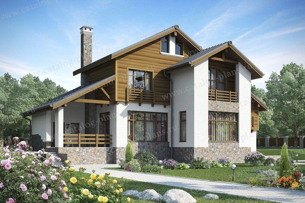 Проект жилой дом #59-77 материал - газобетон, стиль современный