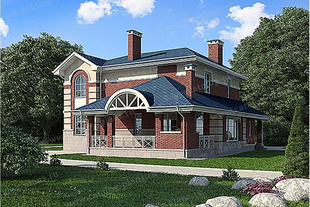Проект жилой дом #59-76 материал - газобетон, стиль классический