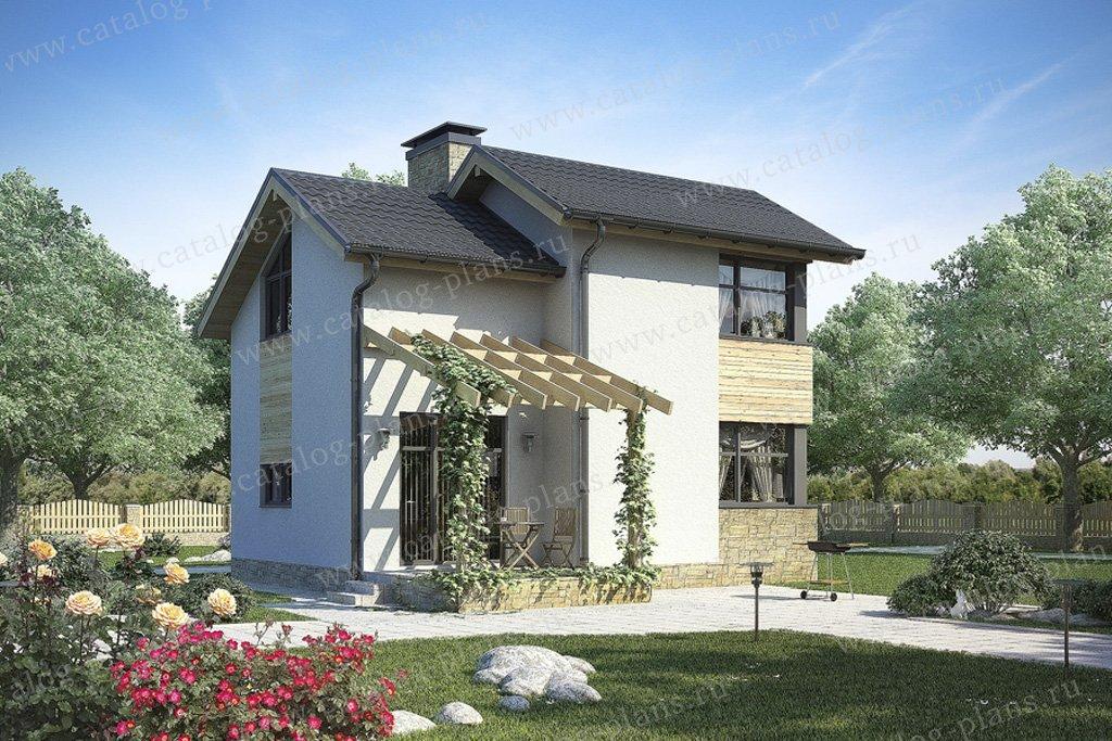 Проект жилой дом #59-69 материал - газобетон, стиль скандинавский