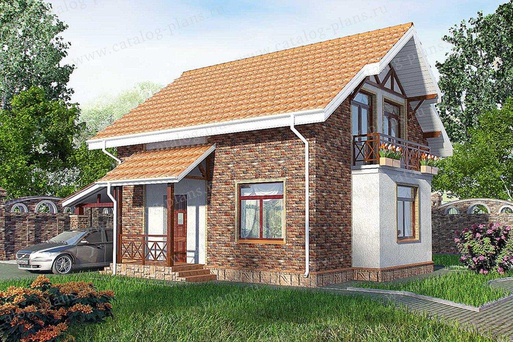 Проект жилой дом #59-52 материал - газобетон, стиль немецкий
